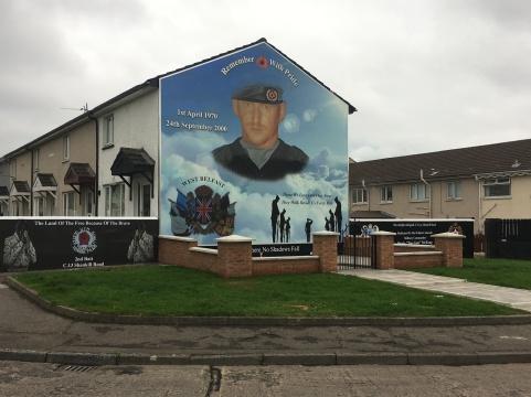 """Stevie """"Top Gun"""" McKreag mural; responsible for at least 12 killings."""