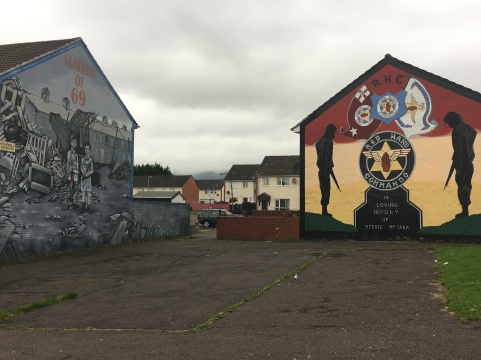 Summer of 69 mural and Red Hand Commando mural