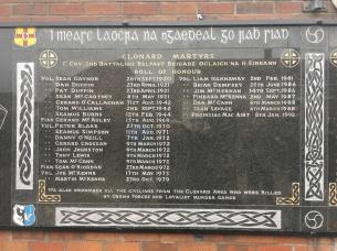 Clonard Martyrs Memorial Garden on Bombay Street