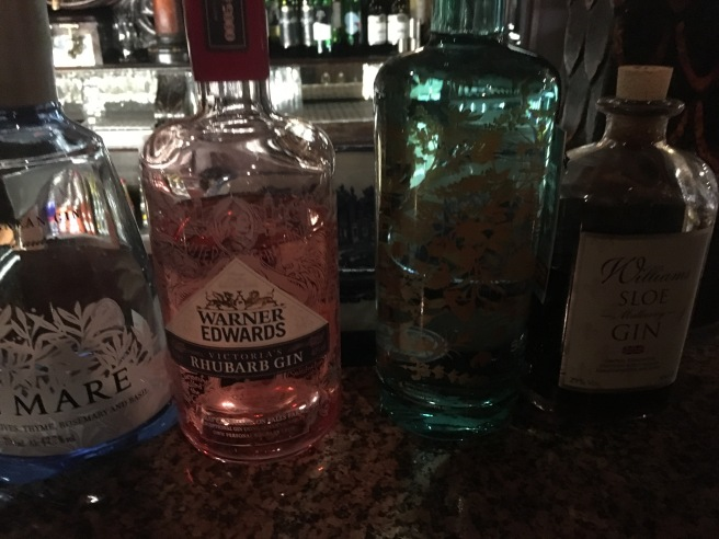 Selections of gins